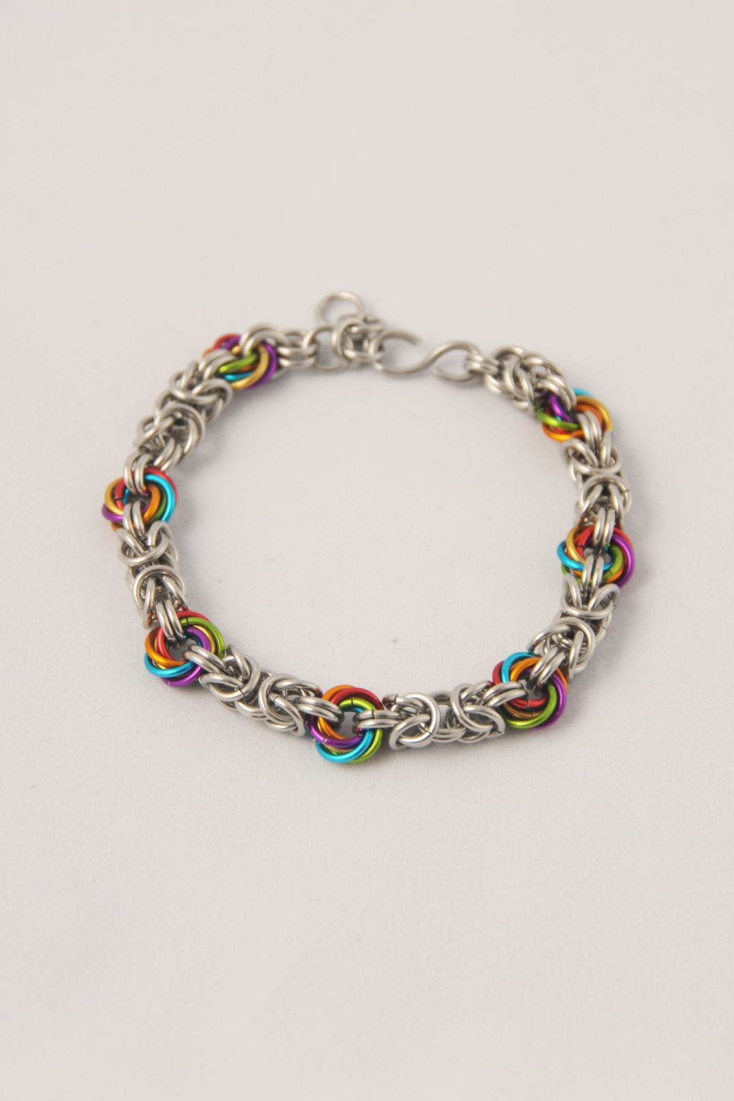 Byzantiner_Candyswirl Armband Chainmaille Kettenehmd